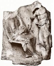 Επιτύμβια στήλη αρ. Μa 800 του Μουσείου του Λούβρου, πρώτο τέταρτο 4ου αι. π.Χ. (αρ. κατ. 4).
