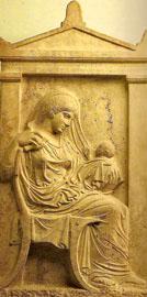 Επιτύμβια στήλη της Αμφαρέτης, 430-420 π.Χ.