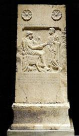 Επιτύμβια στήλη του Αμύντα Μονουνίου από την Αμφίπολη, μέσα 4ου αι. π.Χ. (αρ. κατ. 6).