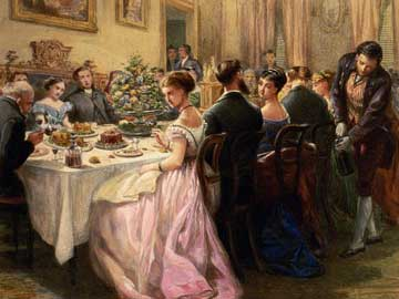Dinner party. Έργο του Sir Henry Cole.