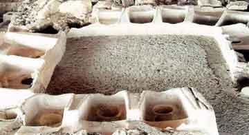 Άποψη των λουτρικών εγκαταστάσεων της αρχαίας Πέλλας