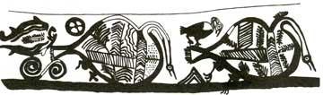 Όρνεο κατασπαράσσει νεκρό πουλί