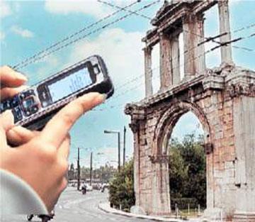 Ξενάγηση στα μνημεία με τα κινητά τηλέφωνα