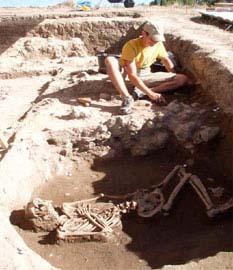 Από την ανασκαφή του νεολιθικού οικισμού Παλιαμπέλων Κολινδρού Πιερίας (Εικ.: Κ. Κωτσάκης)