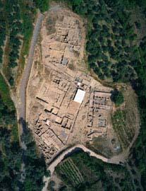 Αεροφωτογραφία του ανασκαφικού τομέα Ι της Ελεύθερνας (Εικ.: Π. Θέμελης)