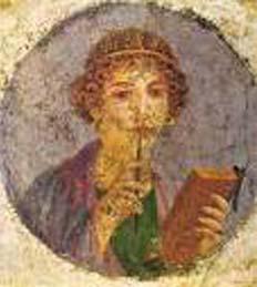 Η λεγόμενη Σαπφώ, από την Πομπηία. 1ος αι. μ.Χ. Αρχ. Μουσείο Νάπολης.