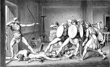 Στις 16 Απριλίου 1178 π.Χ. ο Οδυσσέας εξόντωσε τους μνηστήρες
