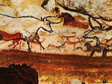 Μία από τις υπέροχες βραχογραφίες του σπηλαίου του Λασκό