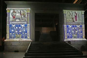 H Ara Pacis με χρώμα και φως