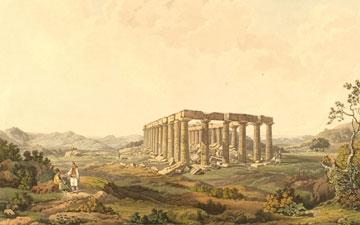 Ο ναός του Επικούριου Απόλλωνα, E. Dodwell,  Views in Greece, Λονδίνο, 1821 (τ.2, 384)