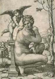 Απόδοση της Αφροδίτης του Δοιδάλσα σε χαρακτικό του Marcantonio Raimondi, 1505