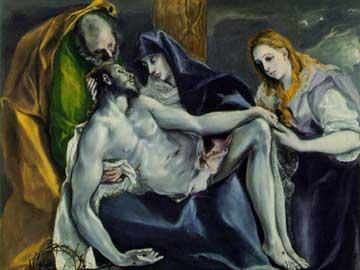 Pietà. El Greco, 1587-97