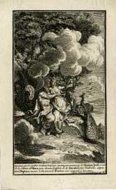 Ο Δίας και η Ήρα. Από την εικονογράφηση γαλλικής μετάφρασης της Ιλιάδας του 1711.