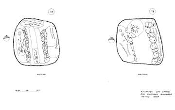 Στρέφι, κατόψεις των λακκοειδών τάφων VII και VIII.