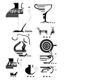 Σχηματολόγιο - θεματολόγιο της ΥΕΙΙΙ κεραμεικής της Ηλείας, προερχόμενη από ταφικά σύνολα.