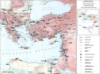 Κατανοµή οικισµών της Ανατολικής Ρωµαϊκής Αυτοκρατορίας στην πρώιμη βυζαντινή περίοδο (4ος-6ος αι.)
