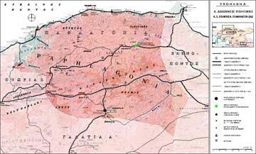 Κύριο και δευτερεύον δίκτυο οικισμών της Επαρχίας Παφλαγονίας κατά την πρώιμη βυζαντινή περίοδο (4ος-6ος αι.).