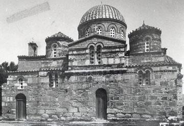 3. Επισκοπή Τεγέας. Νότια όψη (δεκαετία 1890) (ΑΑΕ, Αρχείο Ορλάνδου, Επισκοπή).