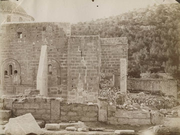 5. Δαφνί, προς δυσμάς τμήμα Β. όψης μετά τις επισκευές του 1891 και την κατασκευή των αντηρίδων (1892-8) (EPHE, Coll. G. Millet)