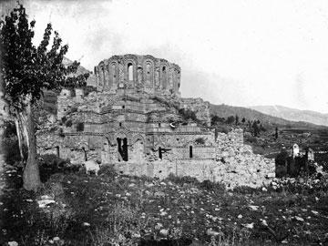 9. Μυστράς. Άγιοι Θεόδωροι. Άποψη από ανατολικά (1889) (BSA, BRF archive collection).
