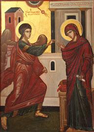 Κ. Γλιάτας, Ο Ευαγγελισμός Ι, λάδι σε ξύλο, 98x138 εκ.
