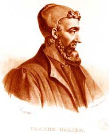 Κλαύδιος Γαληνός. Λιθογραφία του Pierre Roche Vigneron, Παρίσι π. 1865.