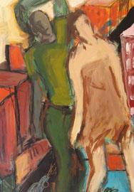 Φιγούρες, 30x50 εκ., ακρυλικό, 2009.