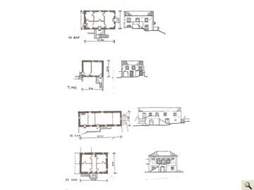 4 αποτυπωμένες περιπτώσεις προσπέλασης ορόφου σε οικισμούς της Κεφαλονιάς. (Σχεδίαση: Χ. Φραγκούλη).