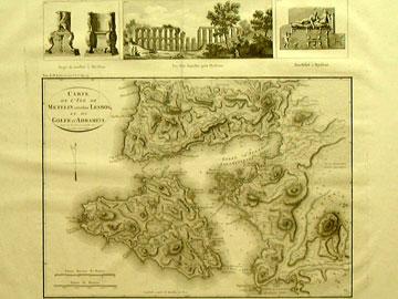 Παλαιός χάρτης της Λέσβου