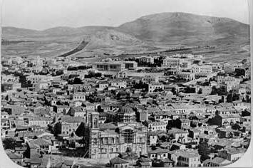Όψη της Αθήνας πριν από την εισβολή της πολυκατοικίας.