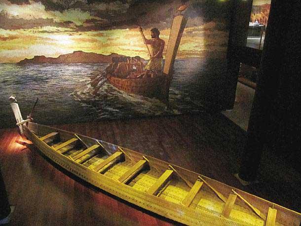Αντίγραφο προϊστορικού πλοίου που κατασκευάστηκε από το Ερευνητικό Κέντρο του Πανεπιστημίου Άγκυρας.