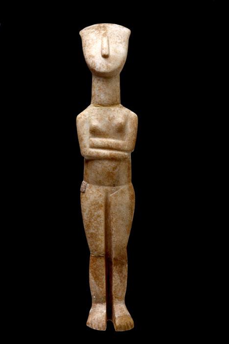 Γυναικείο ειδώλιο, 2700-2400/2300 π.Χ., από τη Νάξο. Εθνικό Αρχαιολογικό Μουσείο, Αθήνα.
