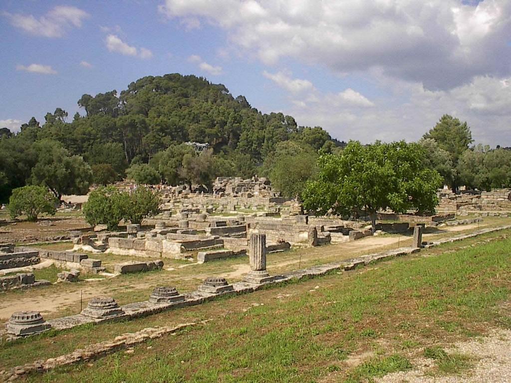 Άποψη του αρχαιολογικού χώρου της Αρχαίας Ολυμπίας.