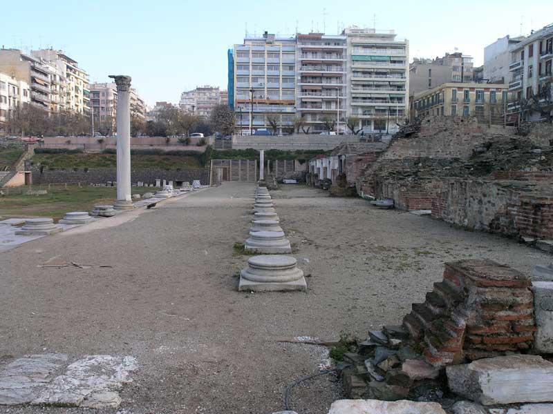 Άποψη της Αρχαίας Αγοράς στη Θεσσαλονίκη.