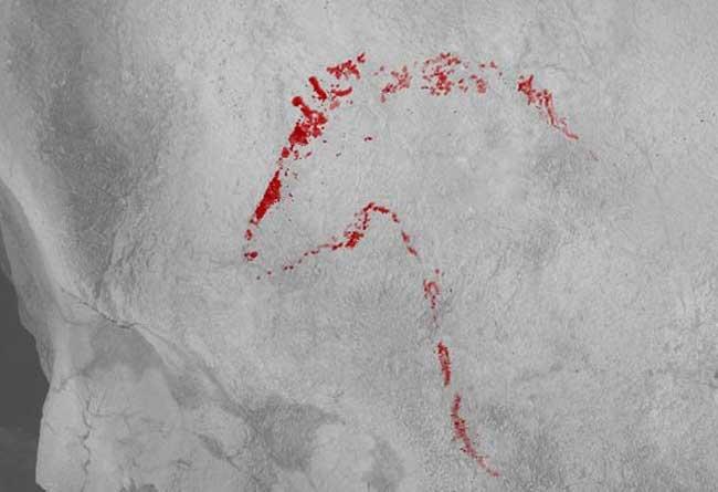 Απεικόνιση αλόγου στο σπήλαιο Askondo.