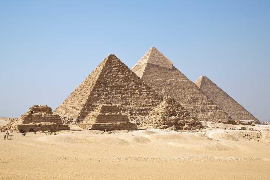 Οι πυραμίδες της Γκίζας.