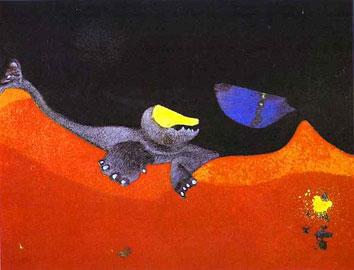 Max Ernst, Σήμα για Σχολή Τεράτων, 1968 (ιδιωτική συλλογή).