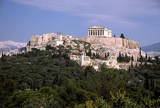 Ο βράχος της Ακρόπολης.