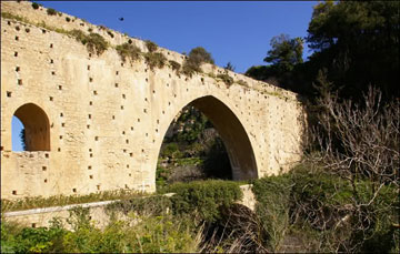 Το καλύτερα διατηρημένο ενετικό υδραγωγείο της Κρήτης, στην περιοχή Αγία Ειρήνη Ηρακλείου.
