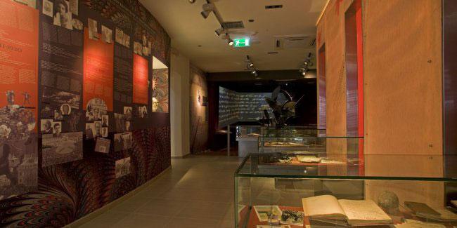 Εικόνα από το εσωτερικό του μουσείου Καζαντζάκη στη Μυρτιά (Βαρβάρους) Ηρακλείου.