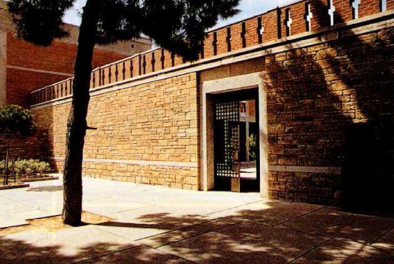 Η κεντρική είσοδος του Μουσείου Βυζαντινού Πολιτισμού, στη Θεσσαλονίκη.