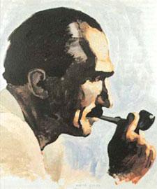 Πορτρέτο του Νίκου Καζαντζάκη (Συλλογή Έλλης Αλεξίου)