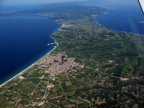 Η περιοχή της Ιερισσού όπου θεσμοθετήθηκε ο δήμος Αριστοτέλη.