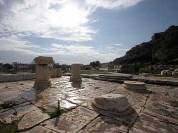 Άποψη του αρχαιολογικού χώρου της Ελευσίνας.
