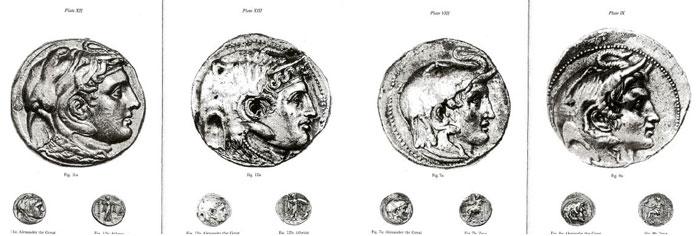 Εικ. 10. Πορτραίτα του Αλέξανδρου σε νομίσματα.