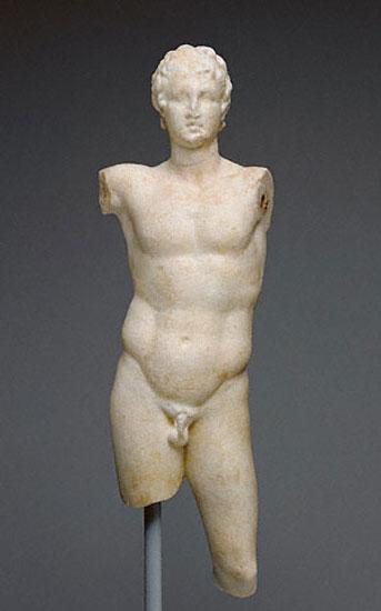 Εικ. 3α. Ο Αλέξανδρος με το δόρυ (Μουσείο Γκετί).