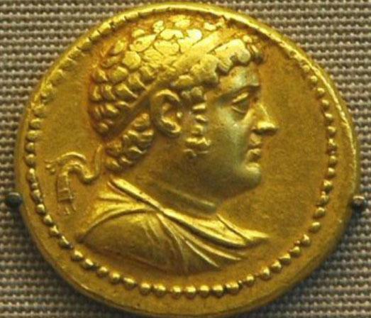 Εικ. 9γ. Πορτραίτο του Πτολεμαίου Δ' σε νόμισμα.