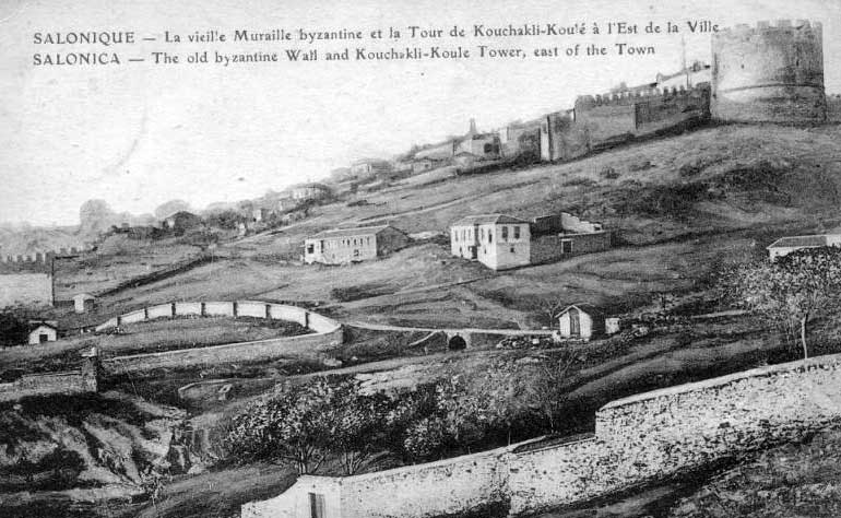Τα βυζαντινά τείχη της Θεσσαλονίκης.