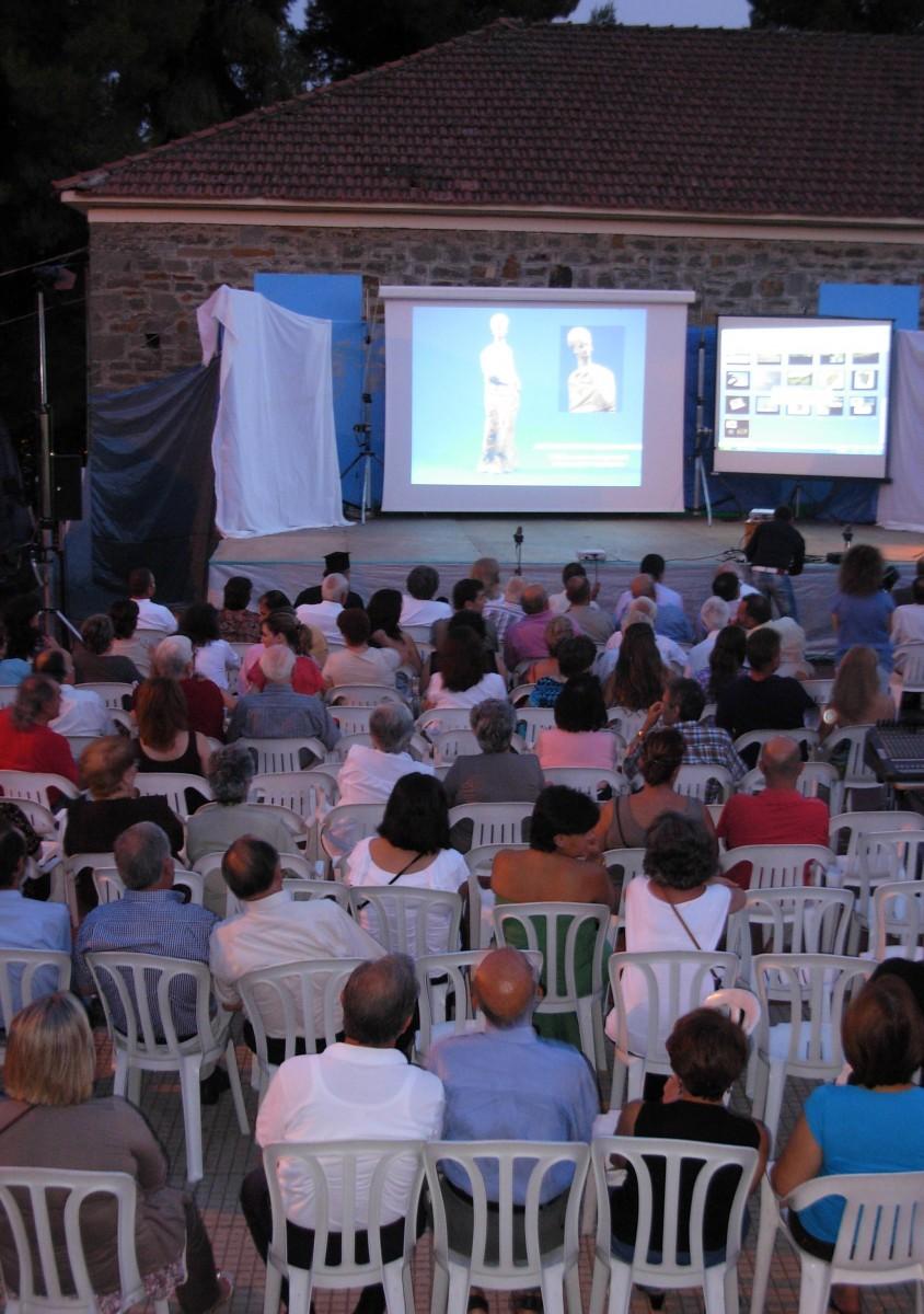 Εικόνα από την εκδήλωση, την οποία παρακολούθησε πλήθος κόσμου.
