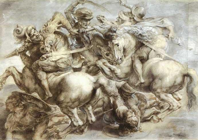 Αντίγραφο της «Μάχης του Ανγκιάρι» του Λεονάρντο ντα Βίντσι από τον Peter Paul Rubens.